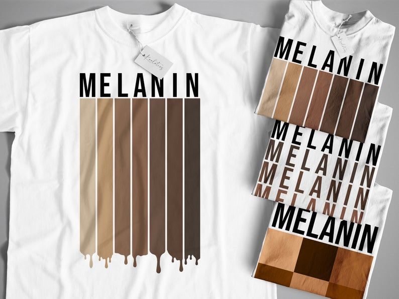 Melanin Shirt Melanin Drip Tee Shades Of Black Beautiful Etsy Melanin Shirt Black Girl Shirts Black Skin Shades