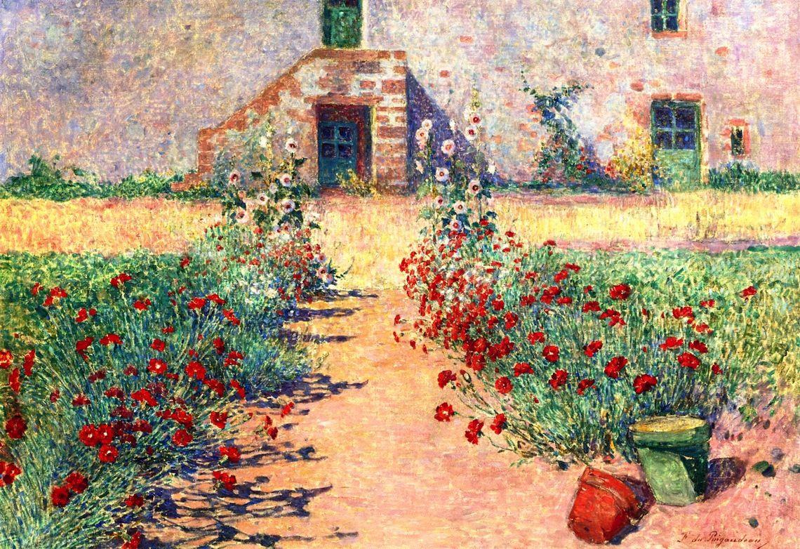 Aisle of Carnations in Kervaudu (Ferdinand du Puigaudeau )