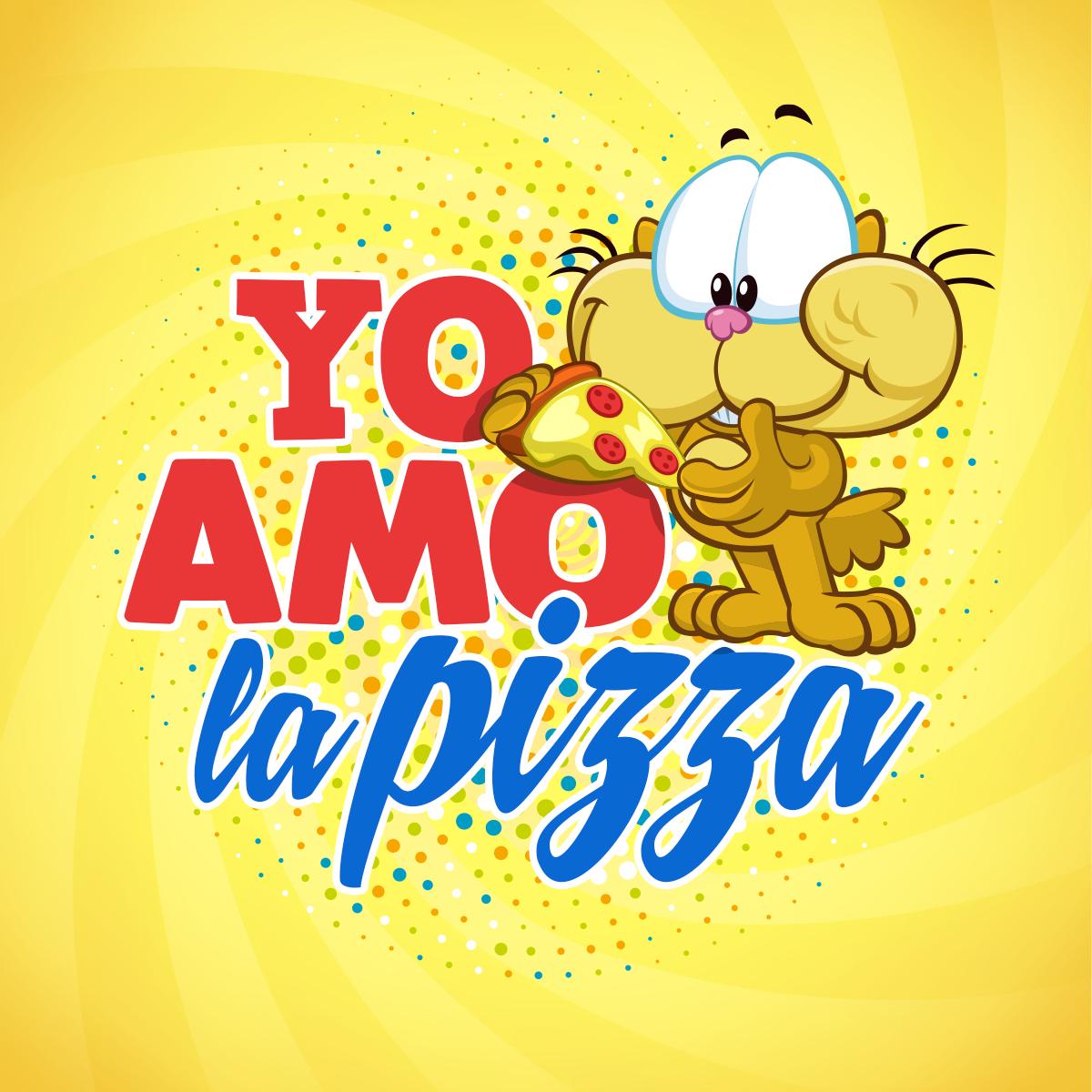 Yo Amo La Pizza Gaturro Amor Gracioso Y Frases Cortas