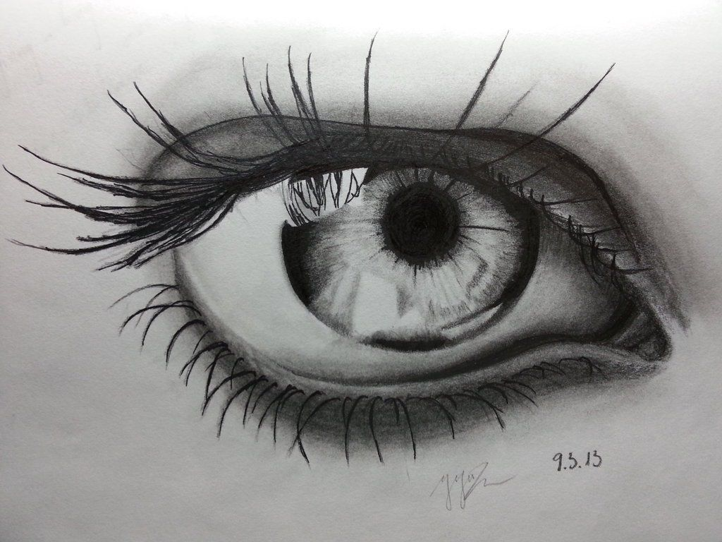 Eye pencil art hd wallpaper