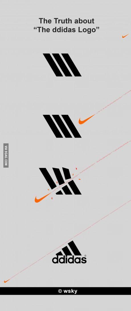 Adidas vs Nike diseño y arte Pinterest Adidas, humor quotes