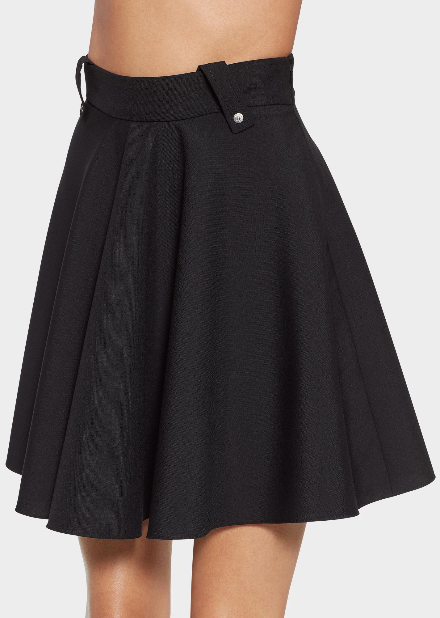 c30c4701ed Versus Versace Wool Blend Skater Skirt for Women
