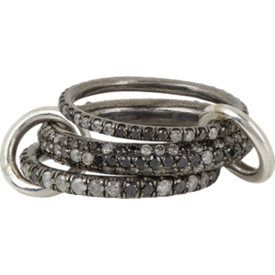 """Nova Gris Pavé"" Ring"