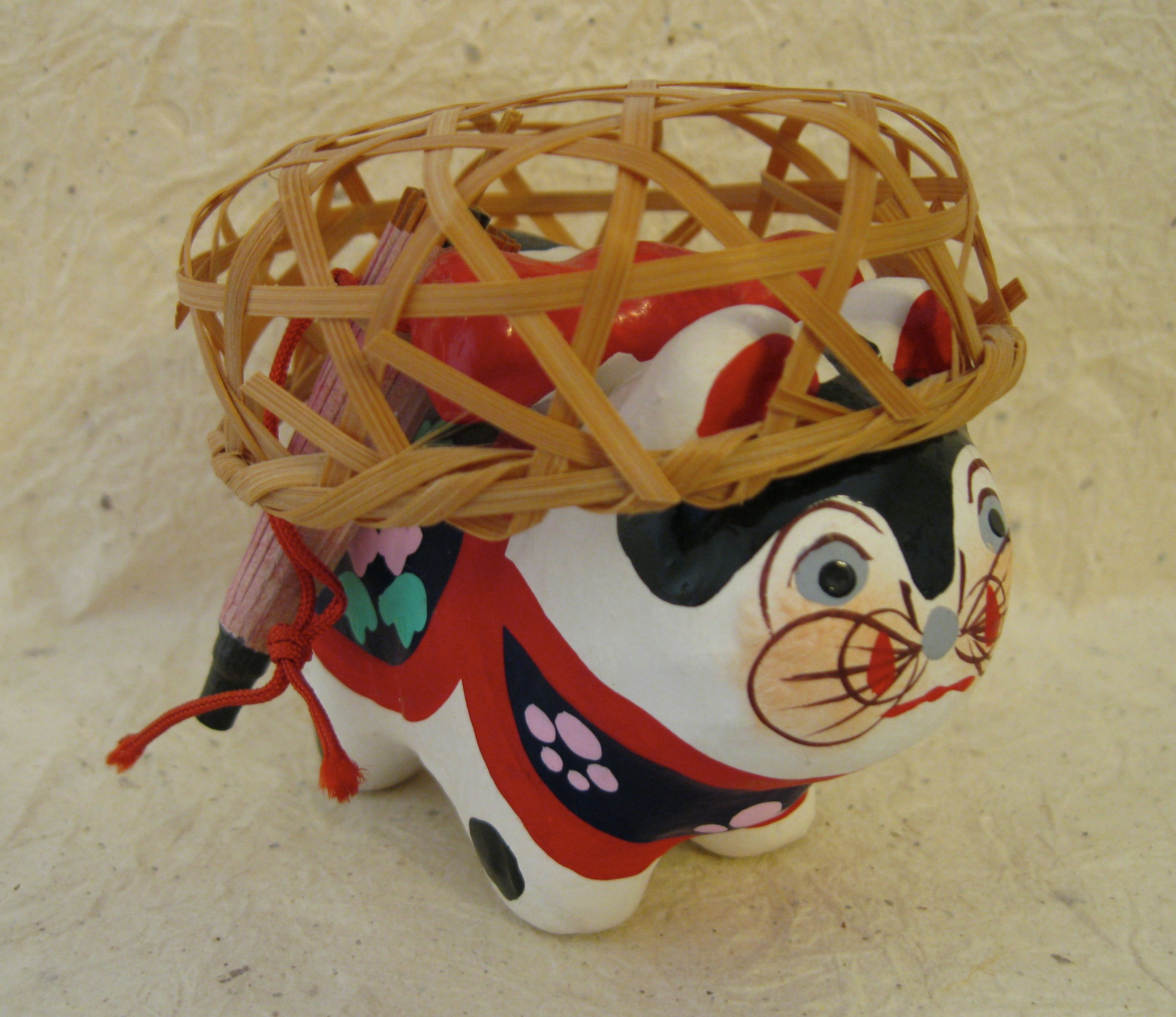 """Inu Hariko. This dog is given as a talisman for a safe delivery in childbirth. 3""""."""