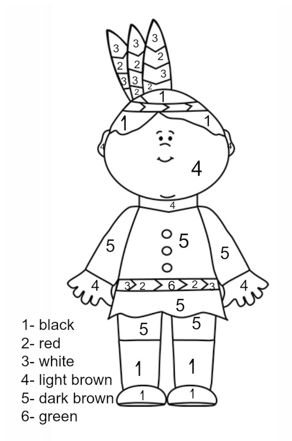 Thanksgiving Coloring Pages | Thanksgiving, Number and Craft