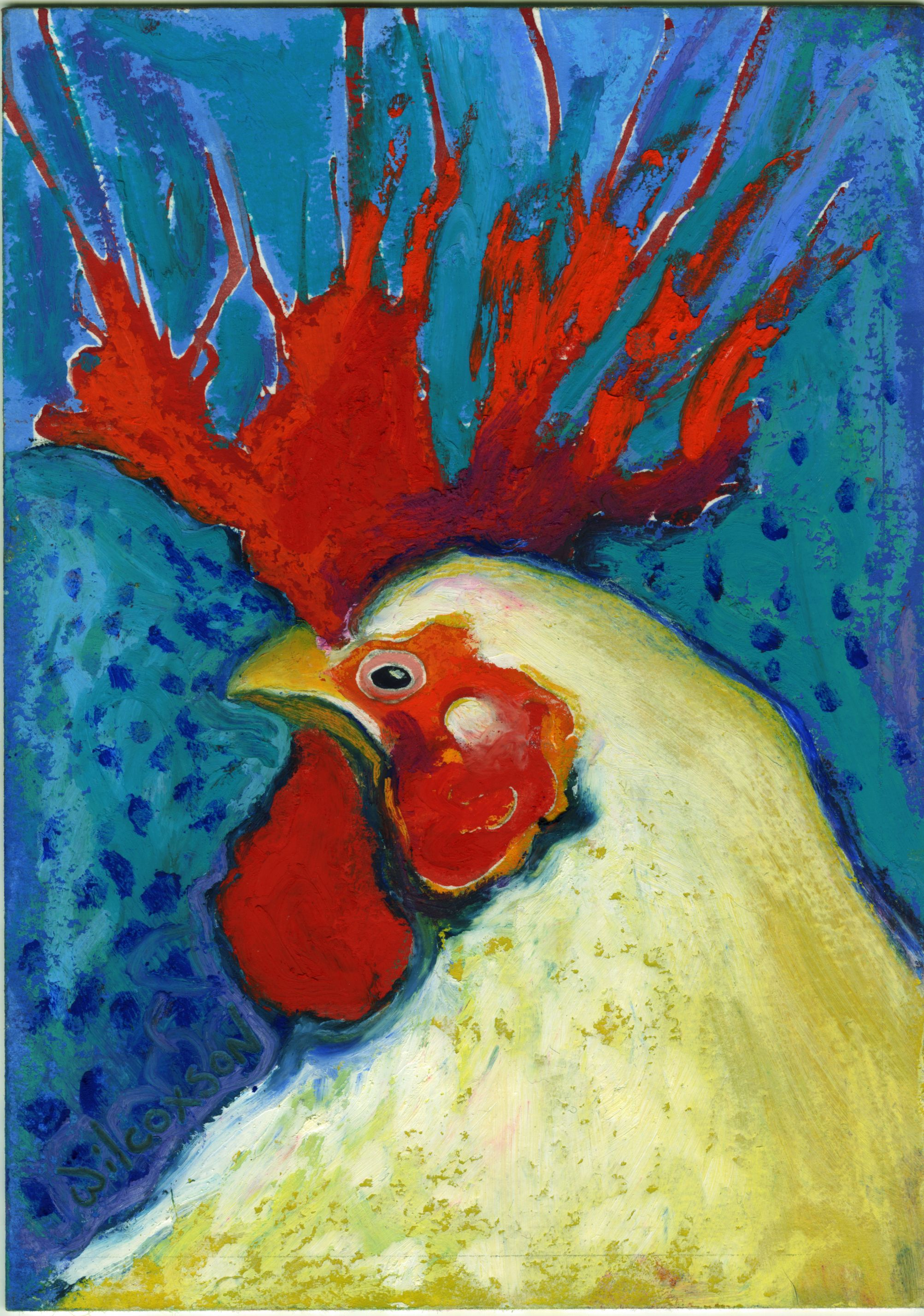 Stanley Was Tired of Being the Only Rooster in the Hen House - oil ...