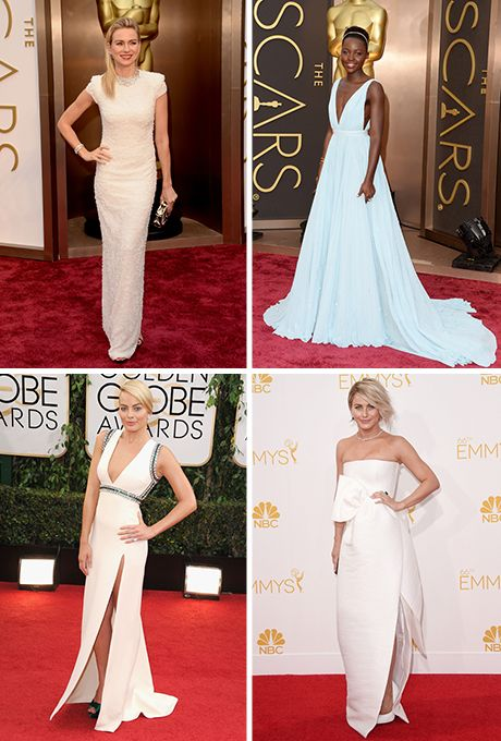 Brides.com: . Oscars. Emmys. Golden Globes — and a whole slew of movie premieres. Red carpets are the best resource for fashion lovers, and they're an even better place of inspiration for brides-to-be. Whether it's a star wearing a bridal-favorite designer like Marchesa, Oscar de la Renta, Vera Wang, Monique Lhuillier or Jenny Packham or a celeb stepping out in a white, ivory or metallic gown that would look just as amazing walking down the aisle as it does a red carpet, engaged girls should…