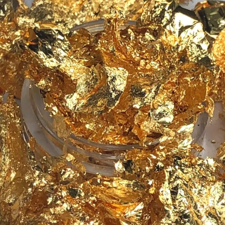 Midas Touch Gold Flakes Gold Flakes Loose Glitter Gold