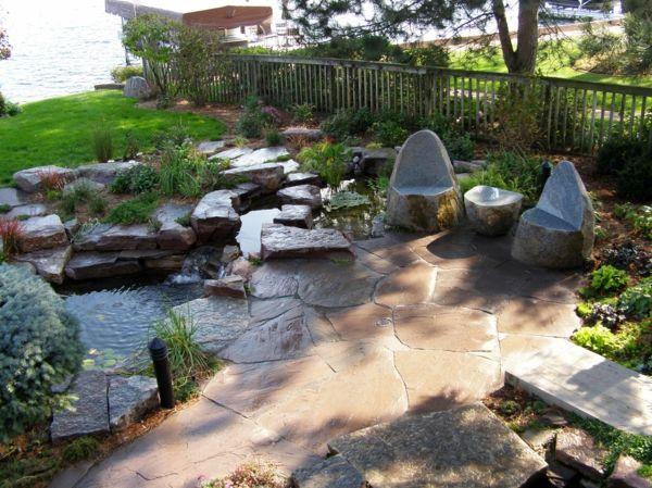 garten steine gartengestaltung ideen gartensteine Kleine Gärten