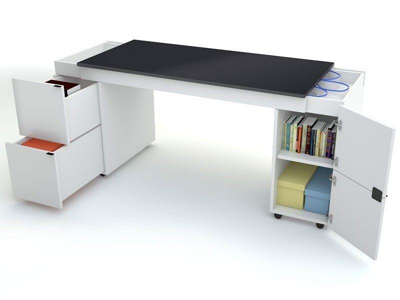 Meuble bureau noir laqué desirderata