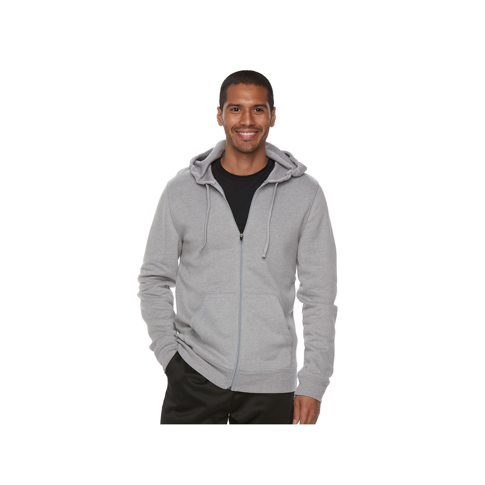 Men's Tek Gear® Ultra Soft Fleece Hoodie, Size: Medium, Light Grey