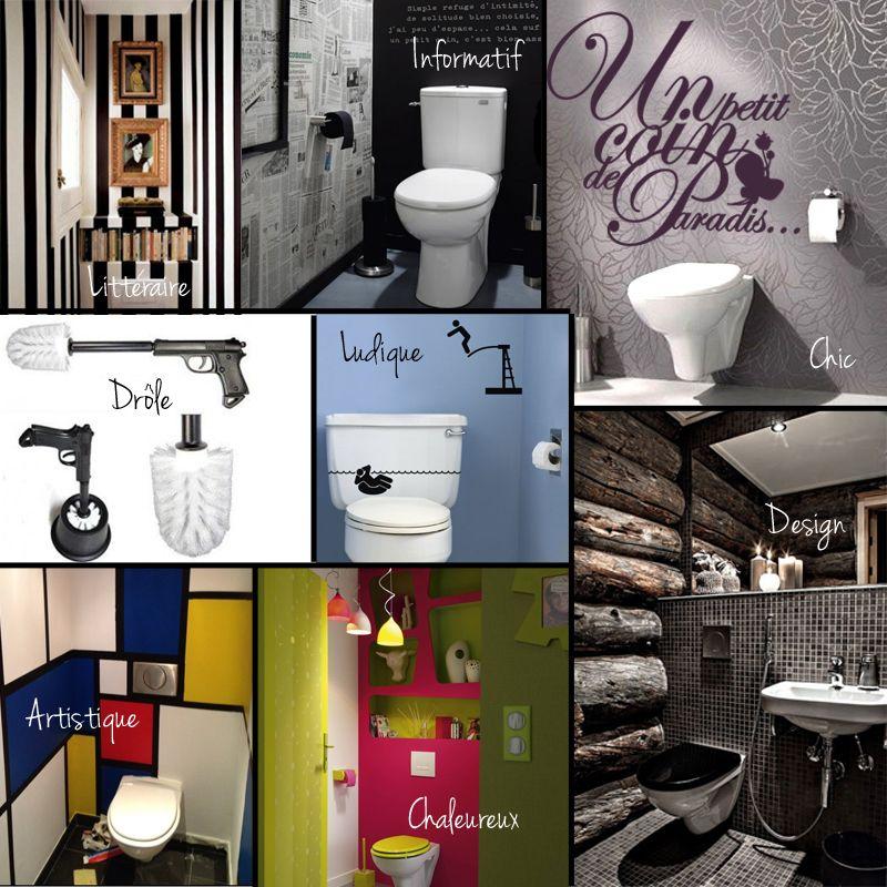 On aime la décoration des toilettes ! Pour un petit coin de ...