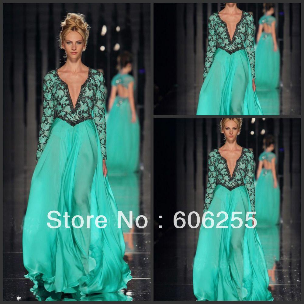 Latest Designer Long Sleeve Dresses Images | Long Dresses ...
