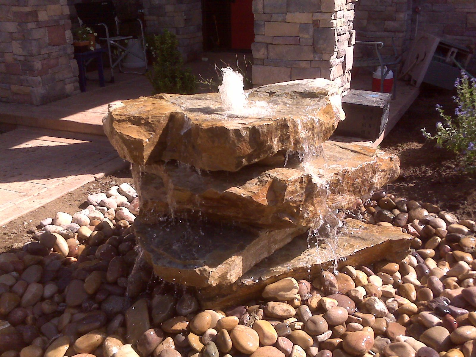 Utah Landscapers, Landscaping, Relandscaping And Adding Waterfeatures,  Water Fountains With The Rocks Drilled, Streams, Disappering Ponds, Fire  Pit Natural ...