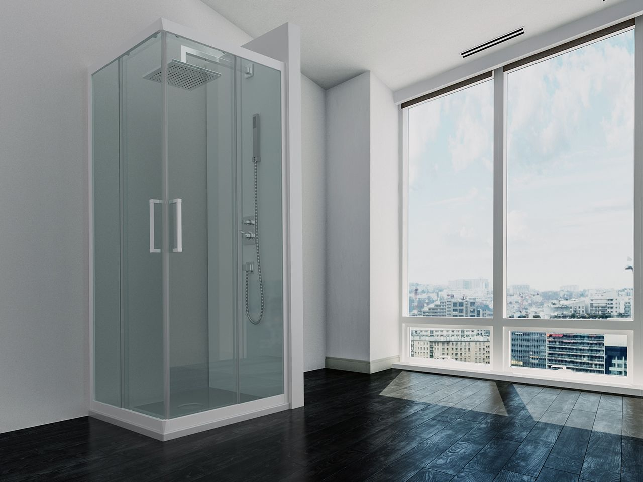 Zen box doccia 70x90 trasparente bianco opaco Box doccia