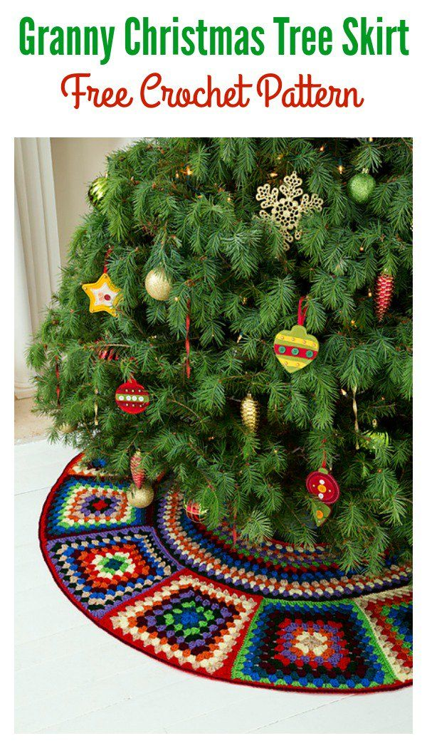 Granny Christmas Tree Skirt Free Crochet Pattern Acrochet For Home