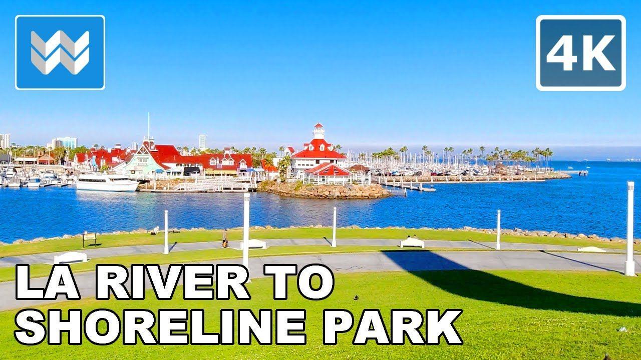 4k Los Angeles River Bike Trail To Shoreline Park In Long Beach California Virtual Cycling Tour Youtube In 2020 Downtown Long Beach Cycling Tour Shoreline