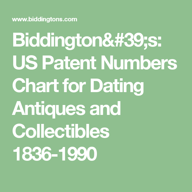 patent number dating chart