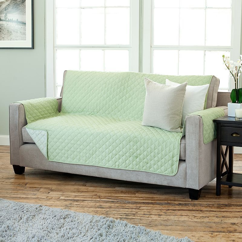 Home Fashion Designs Luxe Reversible Stain Resistant Sofa Slipcover Slipcovers House Styles Home
