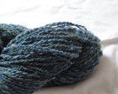 Handspun yarn, Double ply, Earthview, 170 yards