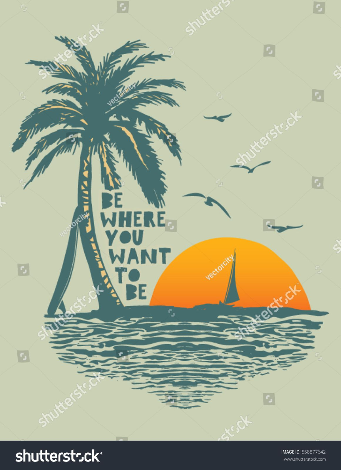 Sunset Surf And Beach Vintage Beach Print Tee Graphic Design Ad Paid Beach Vintage Sunset Surf In 2020 Vintage Surf Beach Graphics Beach Print