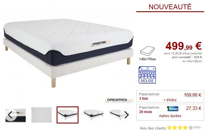 sommier matelas mousse surmatelas m moire forme paradise vente unique pinterest. Black Bedroom Furniture Sets. Home Design Ideas