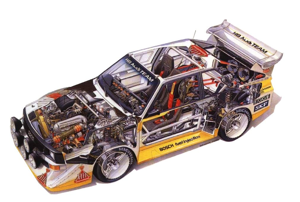 Audi Quattro S1 Rally Car Cutaway Automotivated Pinterest
