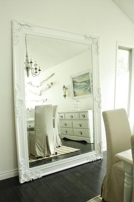 large white mirror looks amazing