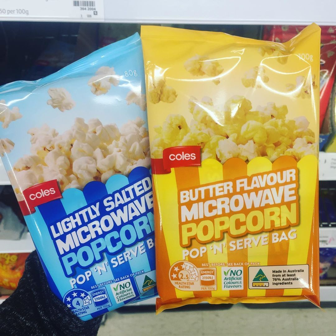 Accidentally Vegan Australia On Instagram Coles Butter Flavour And Salted Popcorn Both Suitable For Vegans Please Note The Flavors Flavored Salts Vegan