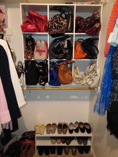 Very simple DIY closet organization