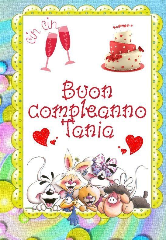 Buon Compleanno Tania Auguri Personalizzati