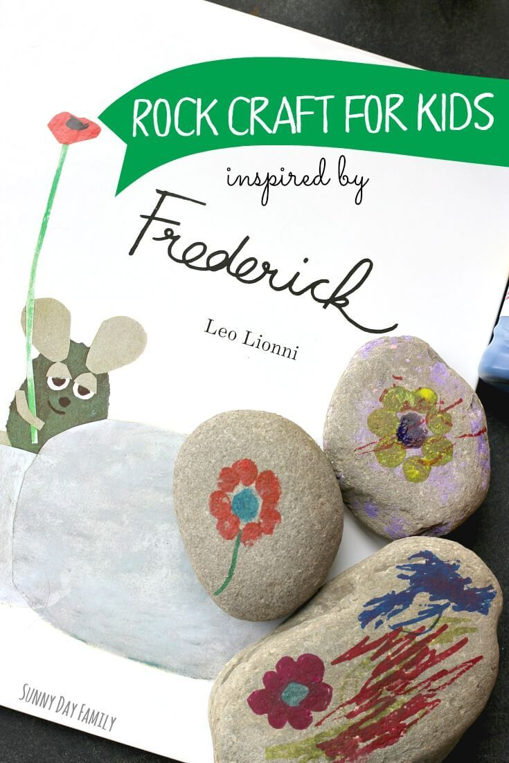 Decorate rocks with a craft inspired by Frederick the mouse! Fans of Frederick by Leo Lionni will love this fun and easy craft for kids - perfect for the garden or for a gift. Such a cute book inspired craft!