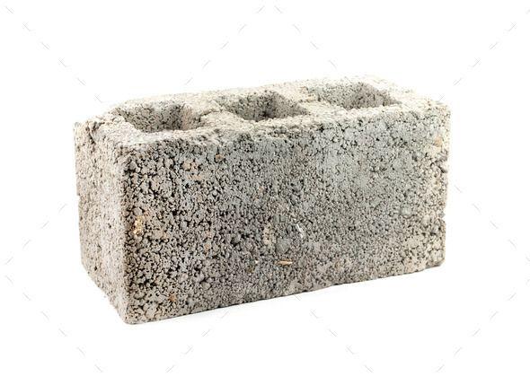 concrete block by perutskyy. concrete block isolated on ...