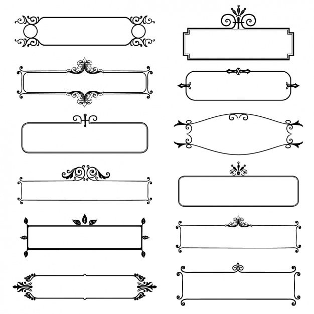 Download Decorative Frames Collection For Free Frame Decor Frame Collection Floral Vector Free