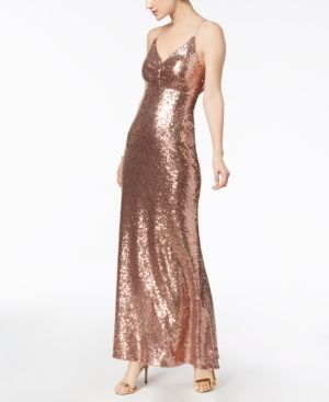 Nightway Sequined Strappy Back Gown Pink 12 | Products