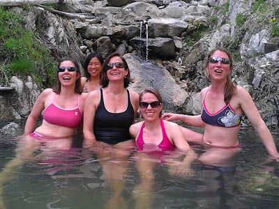 Skinny Dipper Hot Springs Near Garden Valley, Idaho. Why Is Everyone  Wearing A Bathing Suit?
