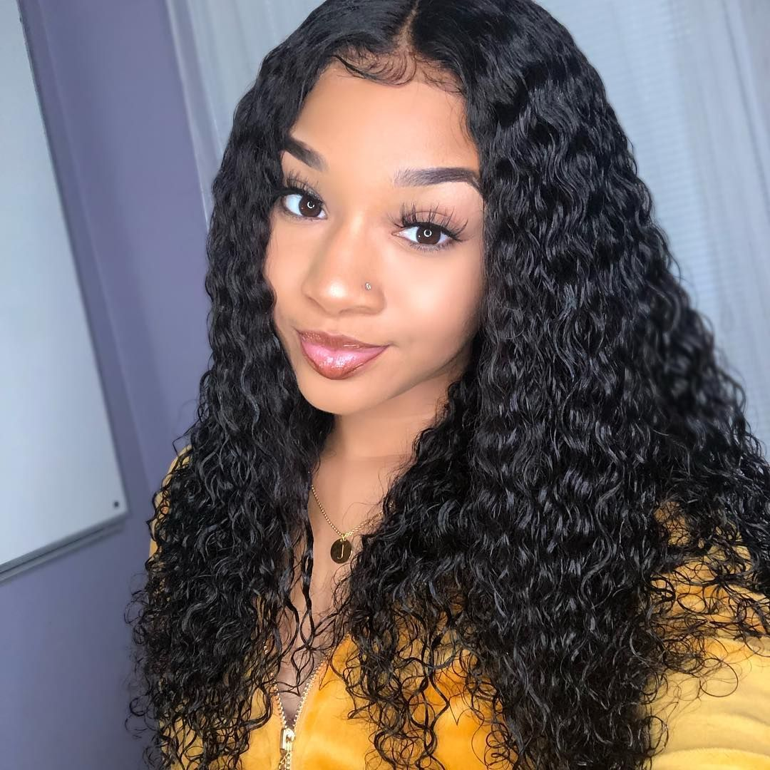 130 Density Curly Lace Wig Lace Front Wigs For Black Women In 2020 Curly Human Hair Wig Front Lace Wigs Human Hair Remy Human Hair Wigs