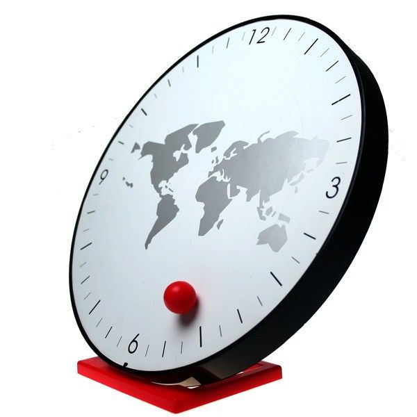 Maglev Ball World Map Wall Clock Cool Clock Clock