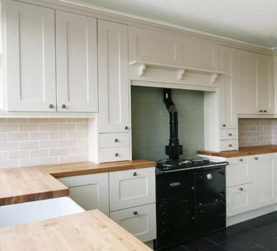 Best Painted Shaker Style Kitchen In Farrow Ball Pointing 400 x 300