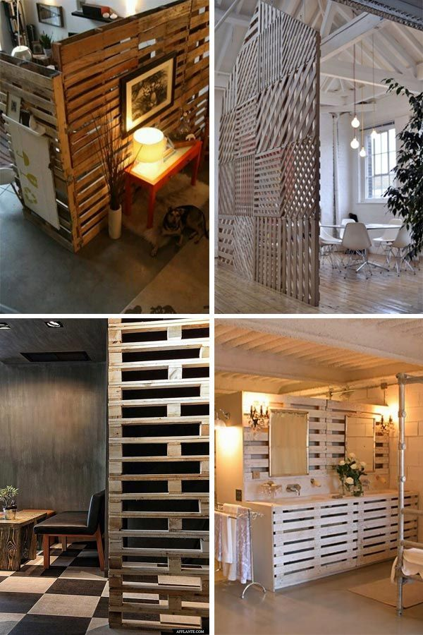 Separadores de espacios en palets buscar con google for Closet rusticos