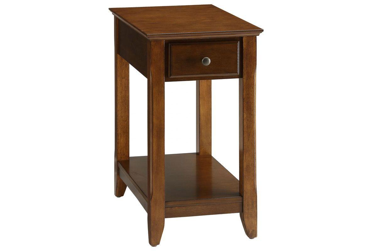 Bertie Side Table In Walnut By Acme Wooden Side Table Chair