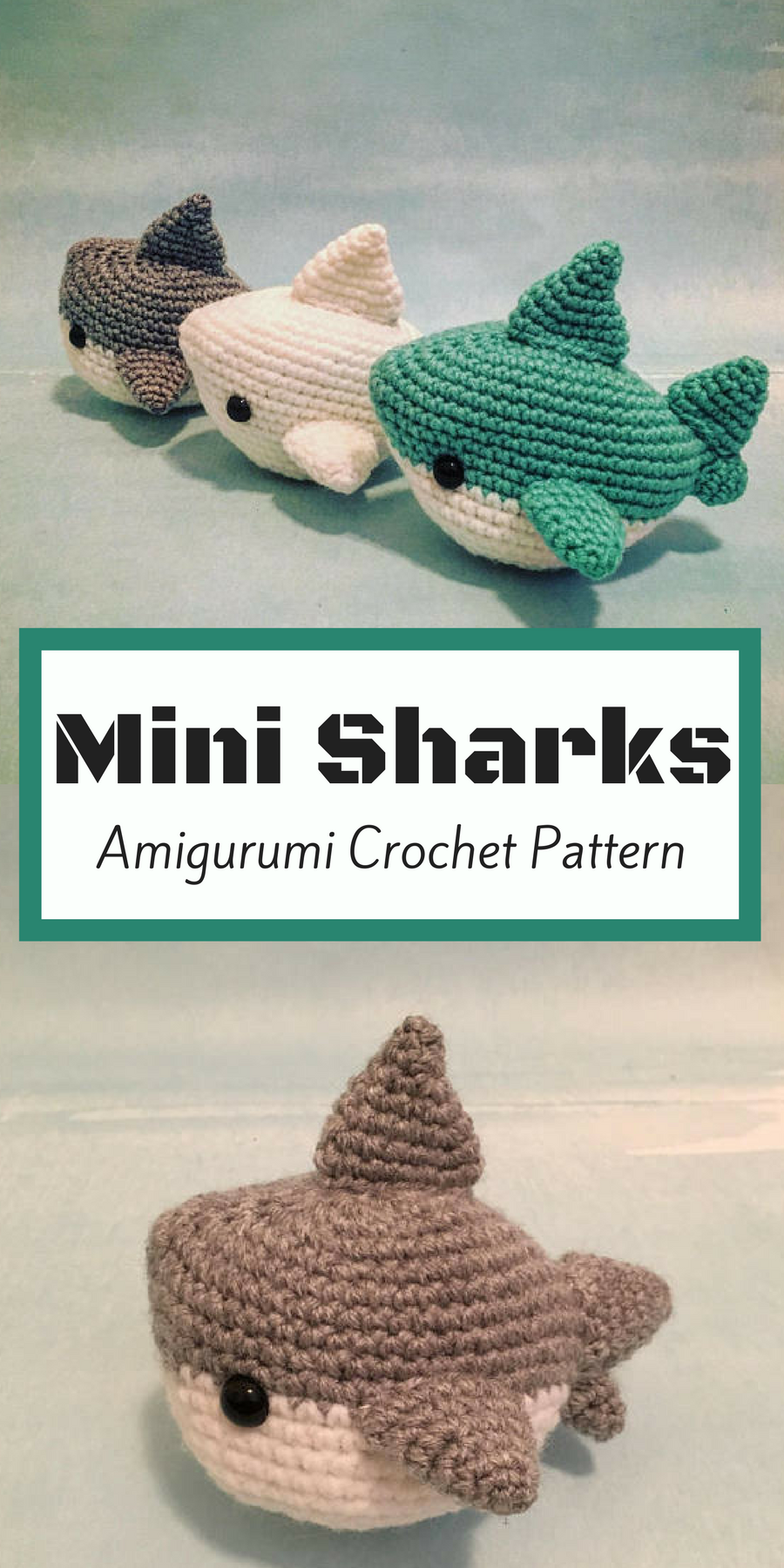 3c028c7813a Mini sharks amigurumi crochet pattern. These little guys are so cool!! So  cute and quick to whip up these little sharkies.  ad  amigurumi   crochetpattern   ...