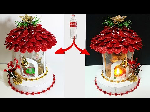 DIY: New Design Showpiece/lantern made from waste Plastic Bo…
