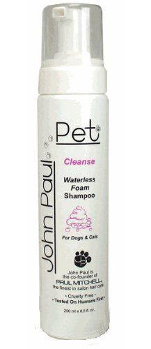 John Paul Pet Waterless Foam Dog and Cat Shampoo $6.20