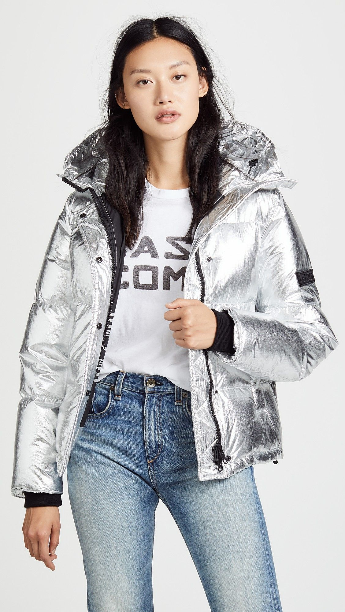678f73f8 Down Jacket | The S.H.I.A.D.C. Cyberwomen Agents in Gold, Silver and ...