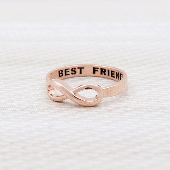Black Friday SALE Infinity Best Friends Ring in Pink by bkandjio