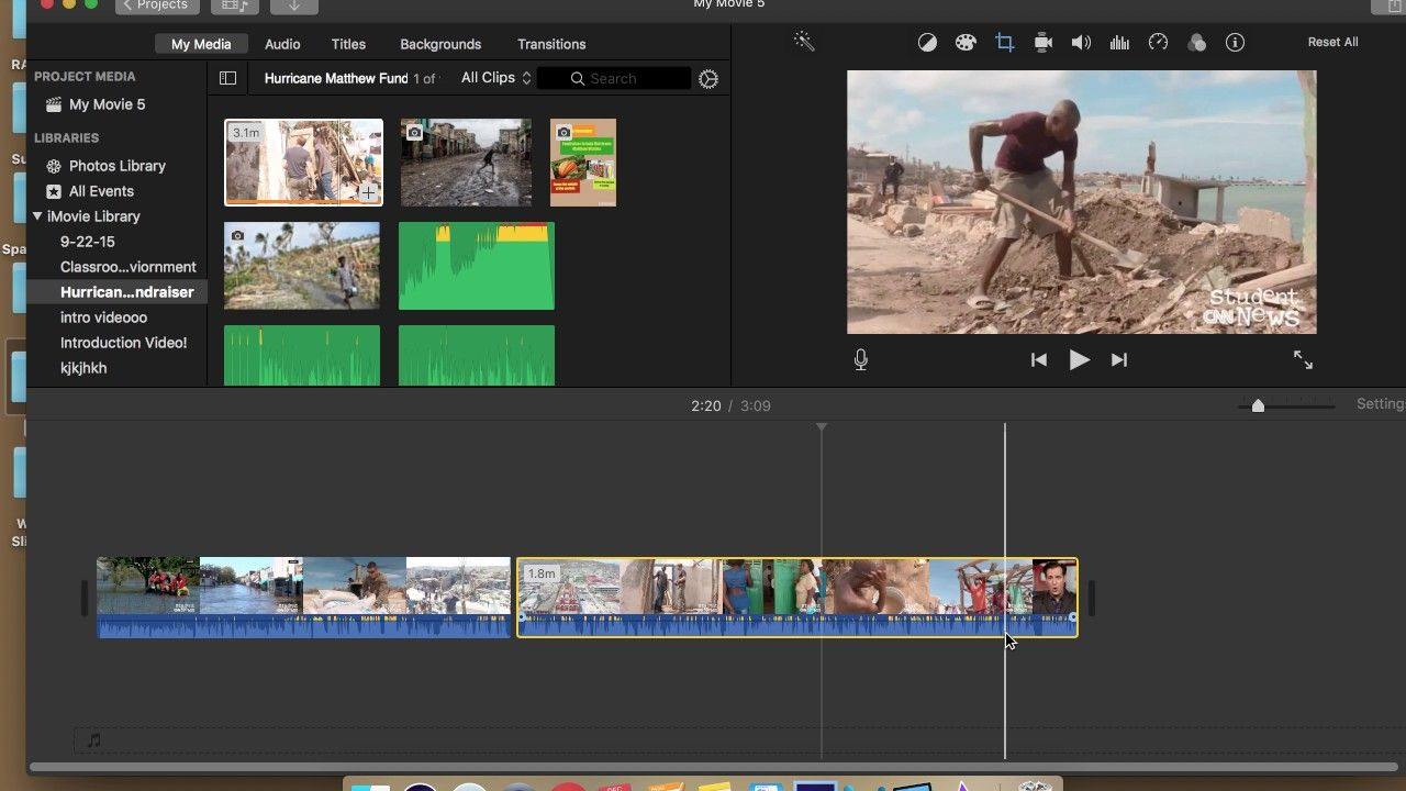 Split, Trim and Delete Clip iMovie in 2020 Photo
