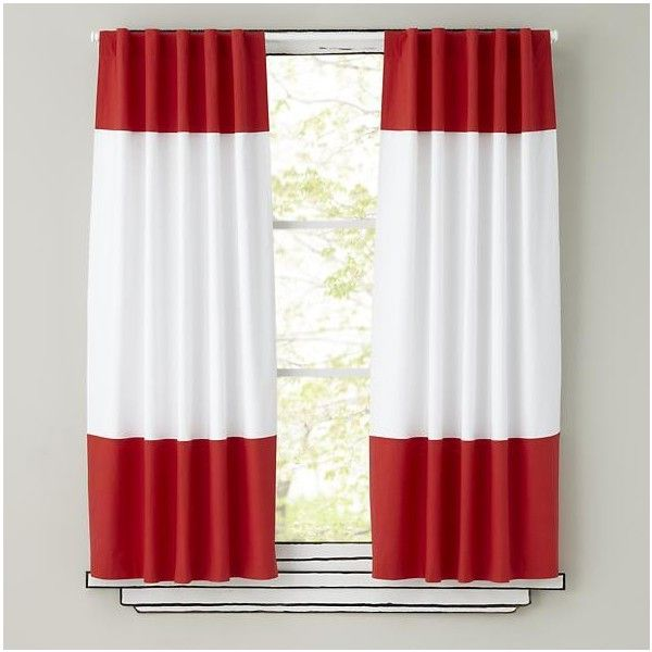 Color Edge Curtain Panels Red 64 CAD Liked On Polyvore Featuring Home Decor Window Treatments Curtains Accessories Bright
