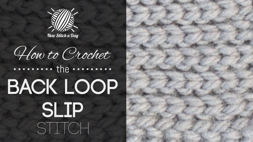 How To Crochet The Back Loop Slip Stitch Looks Like Knitted