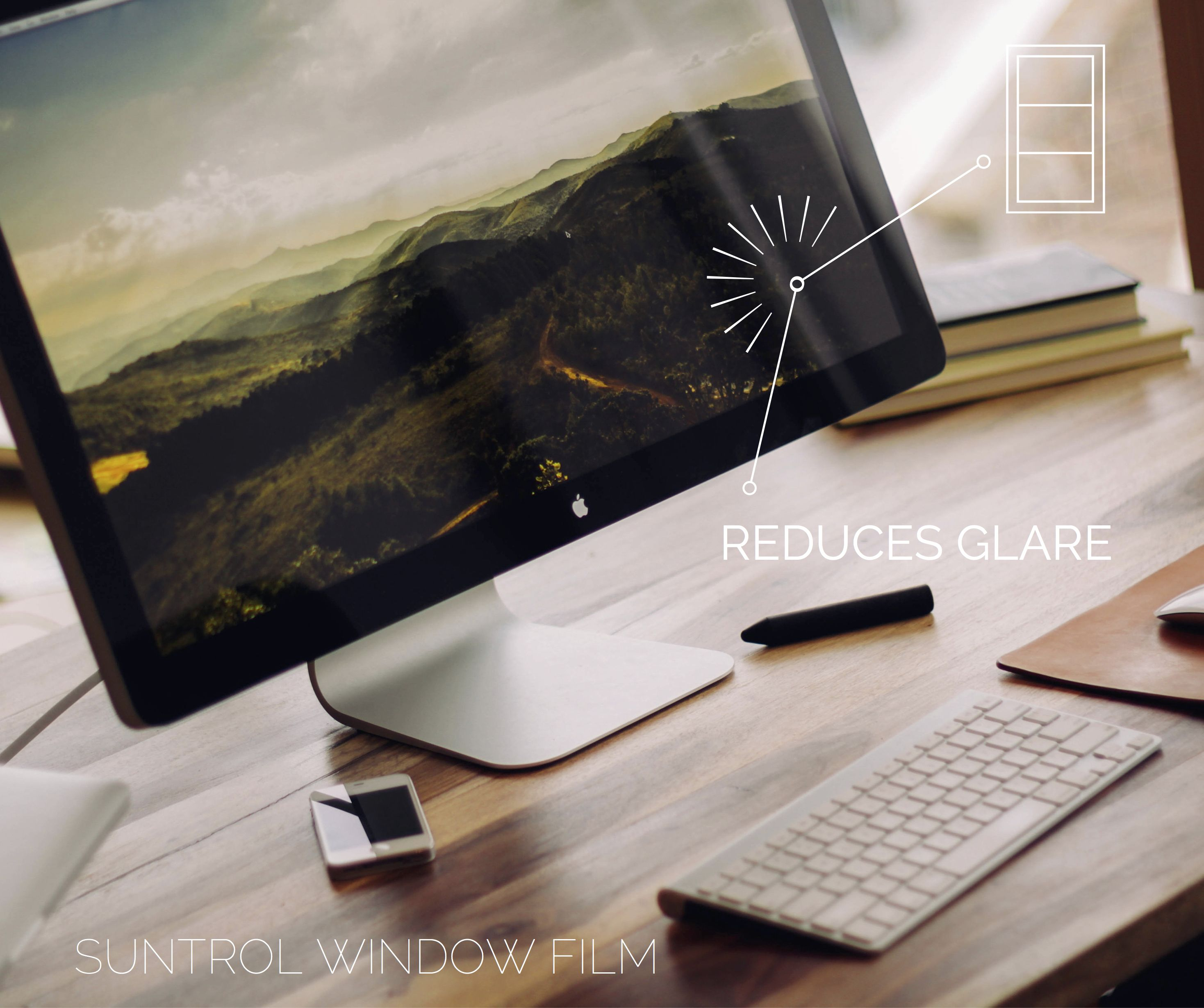 Not only does #WindowFilm make your home more energy efficient, it reduces glare on your computer and television!